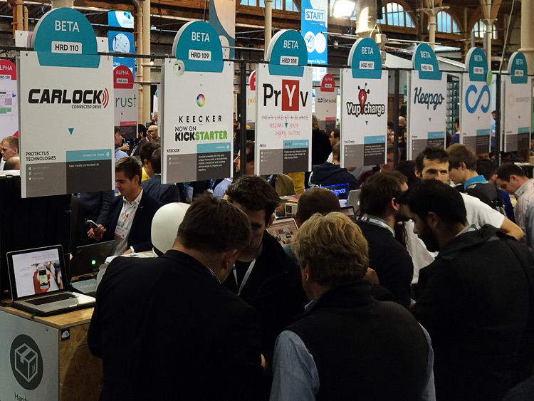 CarLock Stand at Web Summit 2014