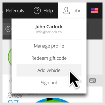 CarLock add vehicle to your profile