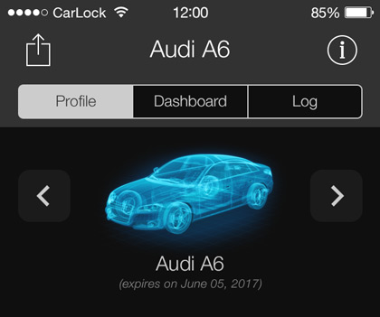CarLock app switch vehicles