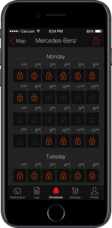 CarLock Security Scheduler