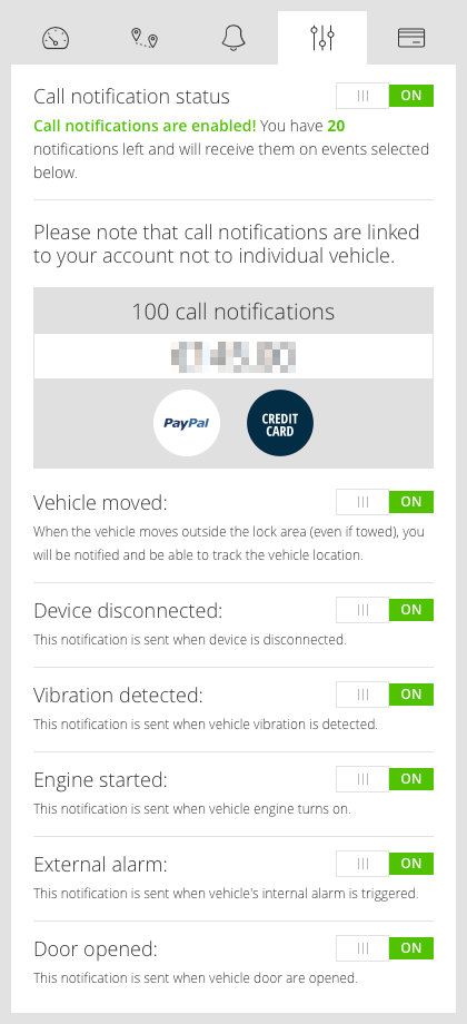 my.CarLock Backup Notifications