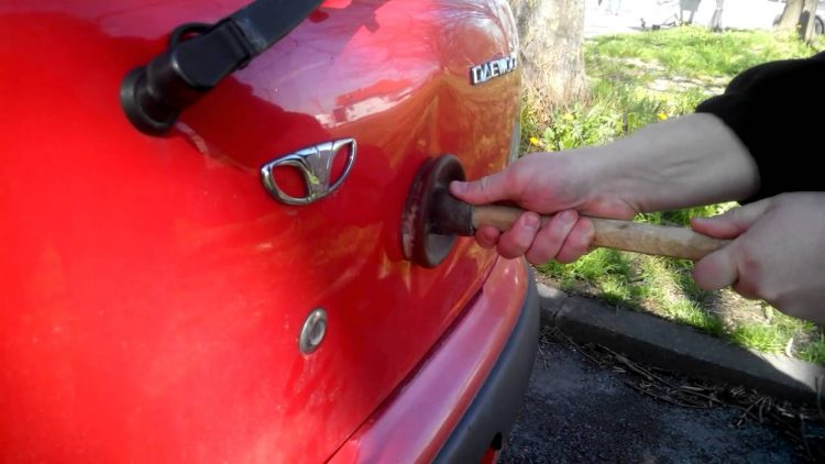 Note If A Dent Is Too Large Deep Or Has Resulted In Damaged Metal There Unfortunately No Other Way Than Bringing Your Car For Repair