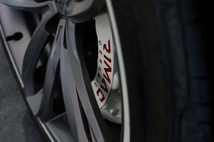 Rimac Concept One ceramic brakes